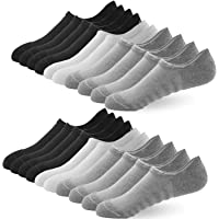 No Show Socks Women Mens Invisible Low Cut Cushioned Sport Socks Ankle Athletic Trainer Non-Slip Casual Cotton Socks .UK…