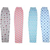 Shree Ji Pack of 4 Women's Cotton Pyjama | Track Pant | Sleepwear(Prints May Vary)