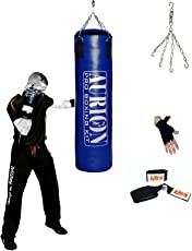 Aurion Synthetic Leather Punching Bag- Filled with Free Chain Heavy Bag