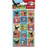 Paper Projects 01.70.06.038 Bing Bunny błyszczący pakiet naklejek wielokrotnego użytku, 19,5 cm x 9,5 cm