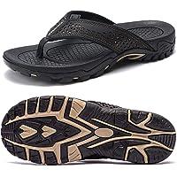 ChayChax Men's Flip Flops Arch Support Sport Thong Sandals Non Slip Outdoor Beach Walking Slippers