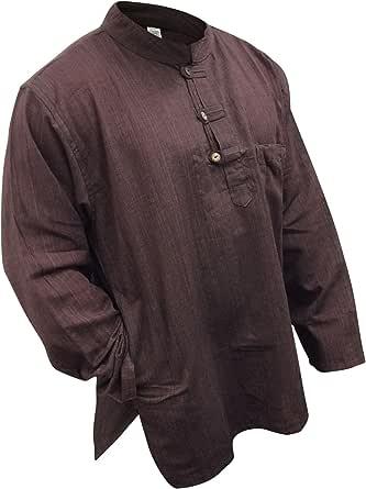 SHOPOHOLIC FASHION Light Weight Hippy Festival Grandad Shirt