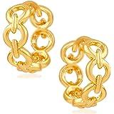 Mahi Gold Plated Circular link Bali Earrings for girls and women ER1109452G