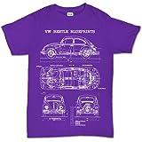 Camiseta de manga corta, diseño de coche escarabajo clásico