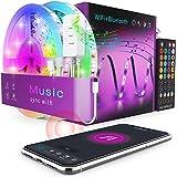 WiFi Alexa Tira LED 15M - Popotan 5050 SMD Luces LED Regulable Sync con Música, Tira LED RGB Inteligente Control Remoto por A