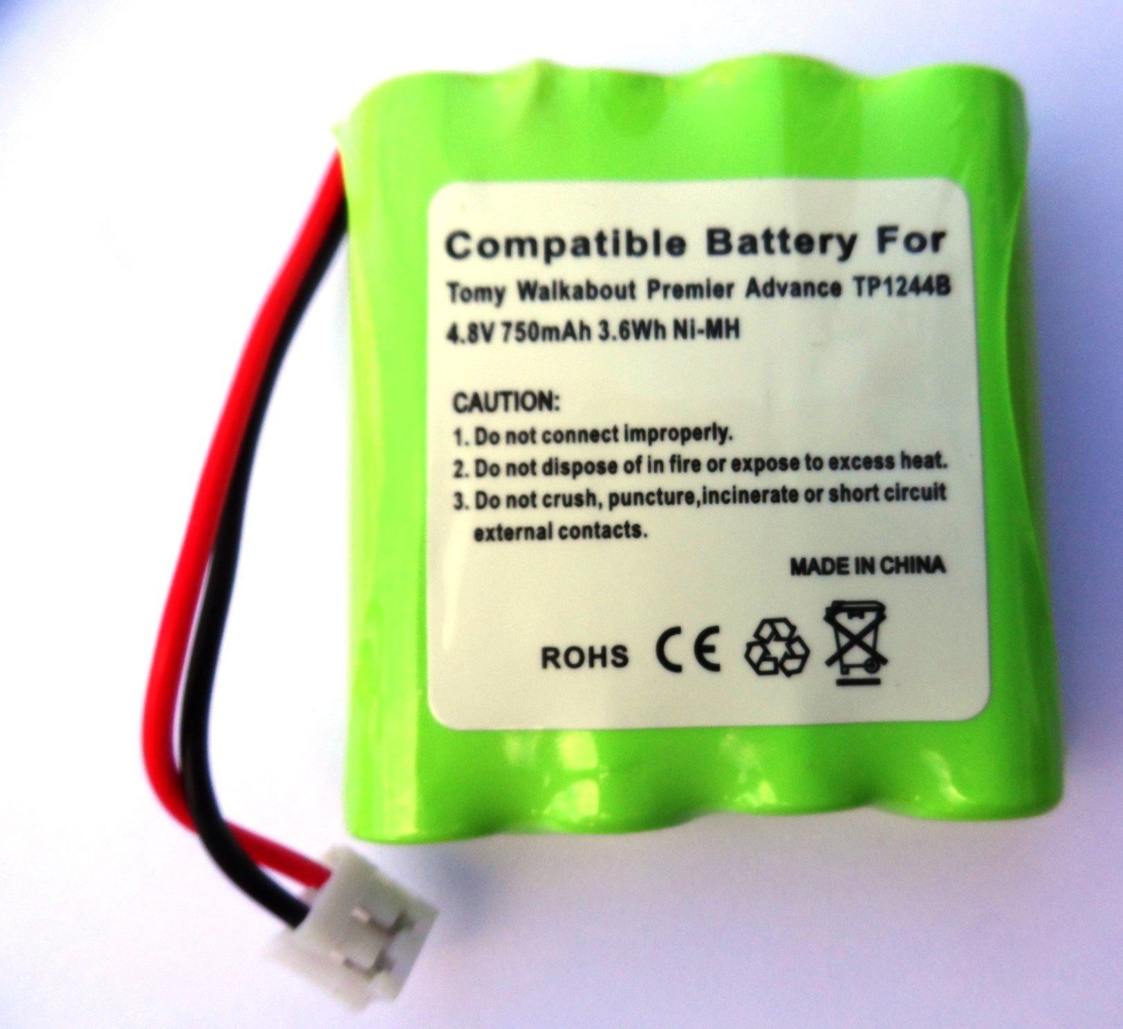 tp1344b batteria Pack per Tomy Wal kabout Babyphone, Batteria Ricaricabile, 4,8�V