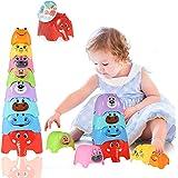 Herefun Tazza Impilabili, 8 Pezzi Giocattoli Impilabile per Bambini, Montessori Gioco Educativo, Stacking Giochi Bambini, Imp