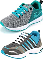 Ethics Best Combo Pack of 2 Sea Green Running Sports Shoes for Men