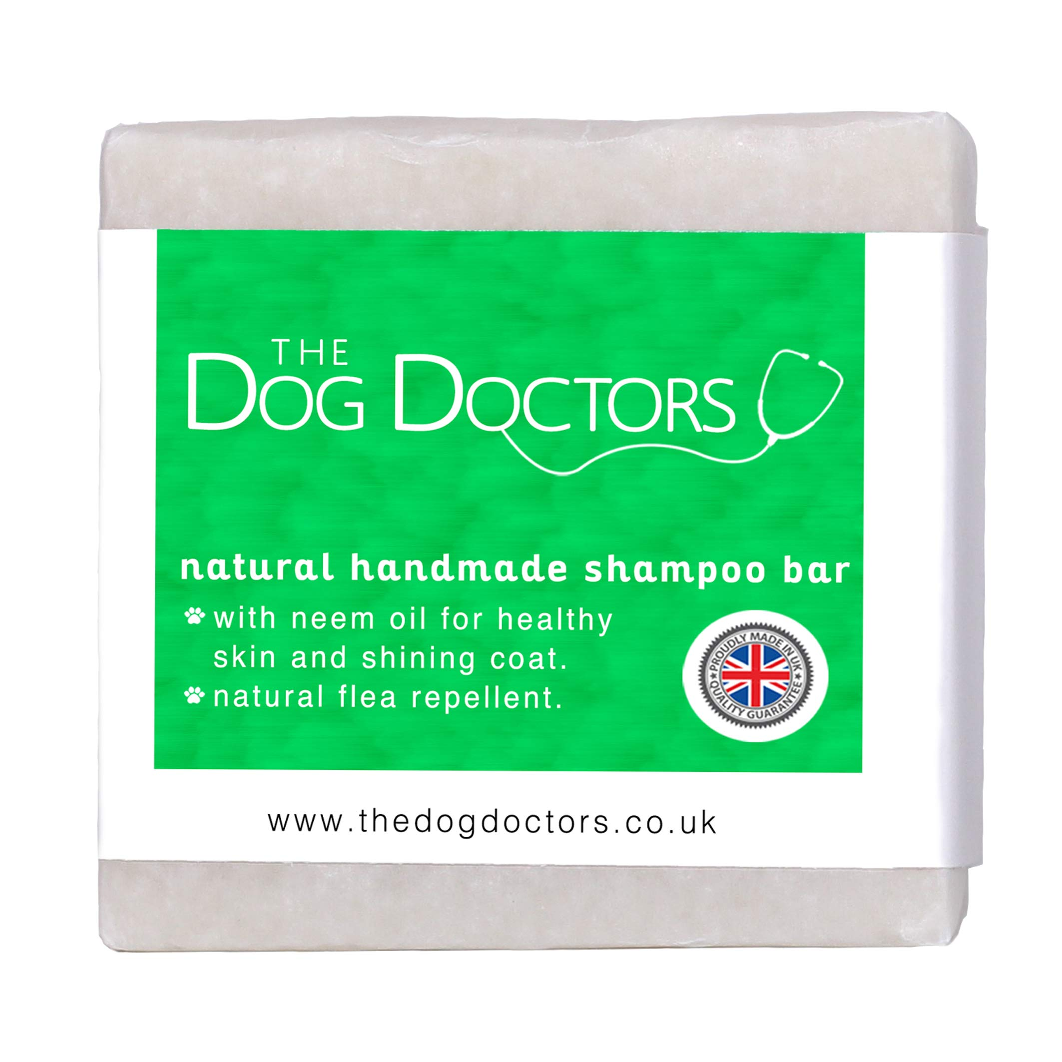 The Dog Doctors Tea Tree & Neem Oil Shampoo Bar 100% Natural Handmade In The Peak District UK