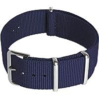 CampTeck Cinturino (24|22|20|18mm) Cinturino Orologio Ricambio Cinturino Nylon Fibbia ad Ardiglione in Acciaio…