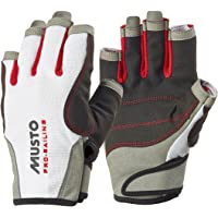 Musto Essential Sailing Short Finger Gloves WHITE AS0813