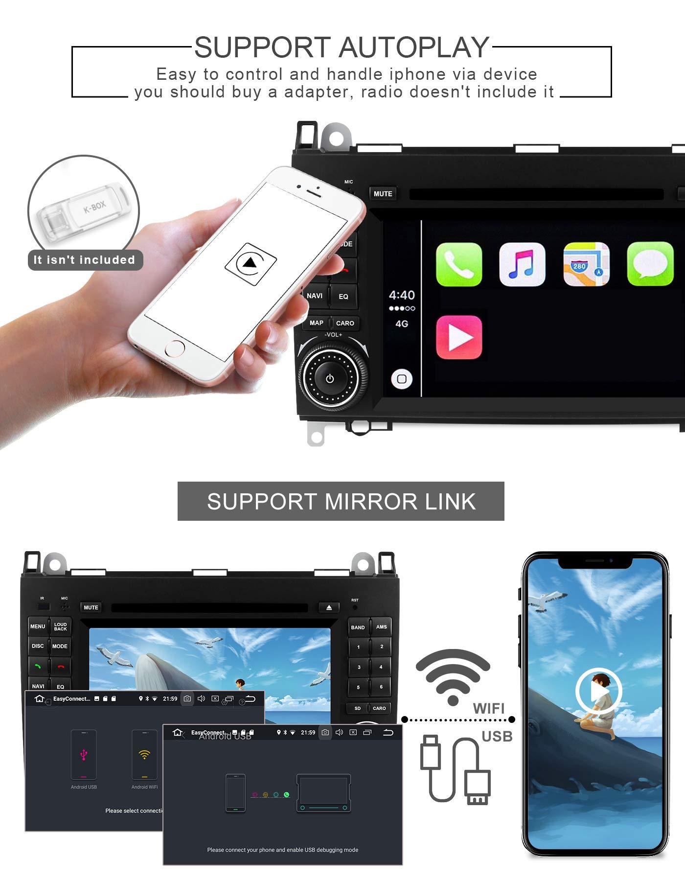 Aumume-Android-90-Autoradio-fr-Mercedes-Benz-Sprinter-B200-B-Class-W245-B170-W169-mit-Navi-Untersttzt-Autoplay-Mirrorlink-Bluetooth-DAB-WiFi-USB-CD-DVD