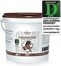AniForte Gelenk-Schild - Mangime naturale per cavalli per la protezione delle articolazioni, nuova mobilità e forma fisica per il corpo, con rosa canina, collagene e ginkgo, 1 kg