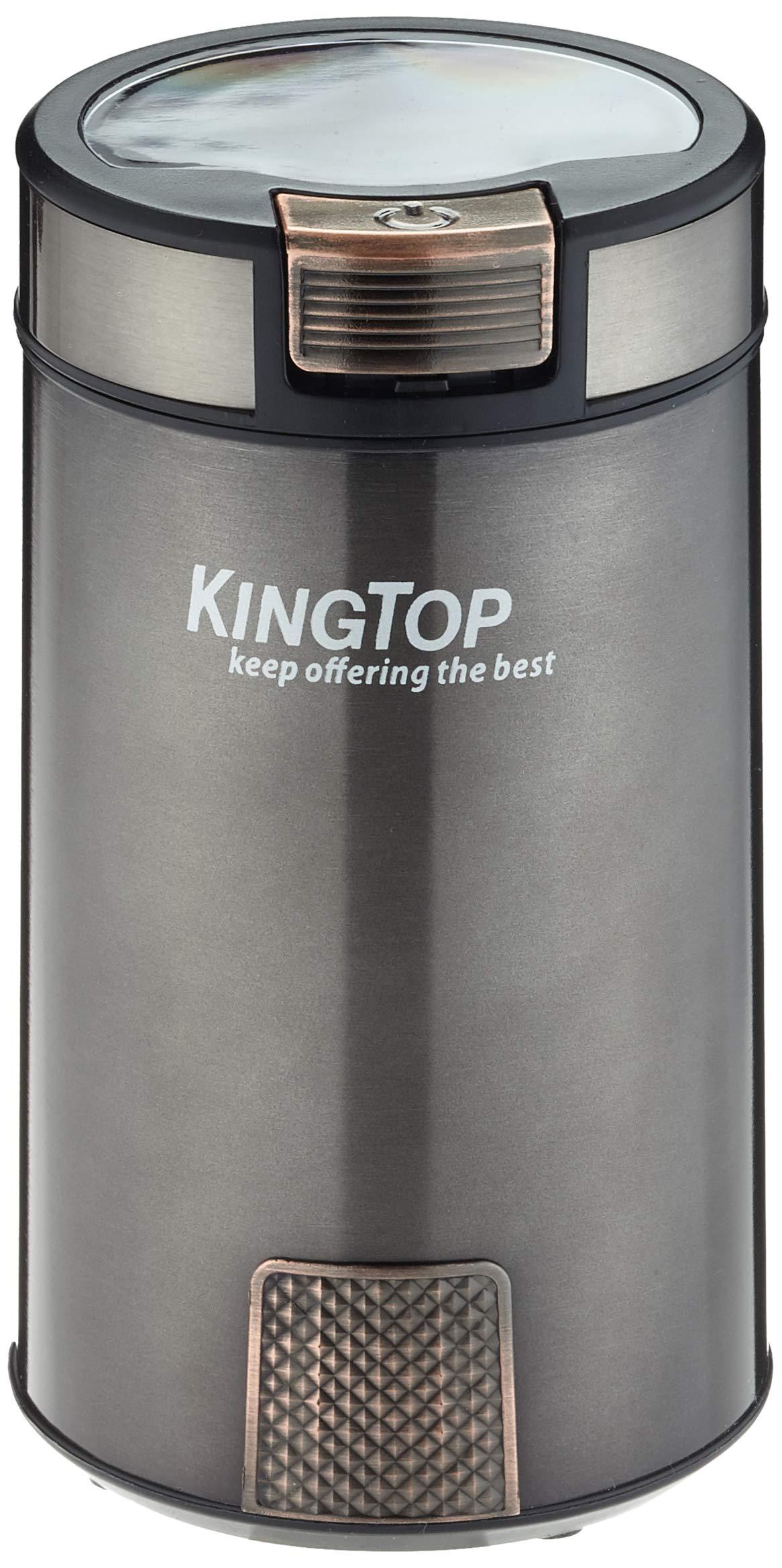KINGTOP Schlagmesser Kaffeemühle Elektrische Gewürzmühle Edelstahl 200W Rot