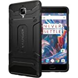 KAPAVER® OnePlus 3 / OnePlus 3T Rugged Back Cover Case MIL-STD 810G Officially Drop Tested Solid Black Shock Proof Slim Armor Patent Design (Only for One Plus 3/1+3T)