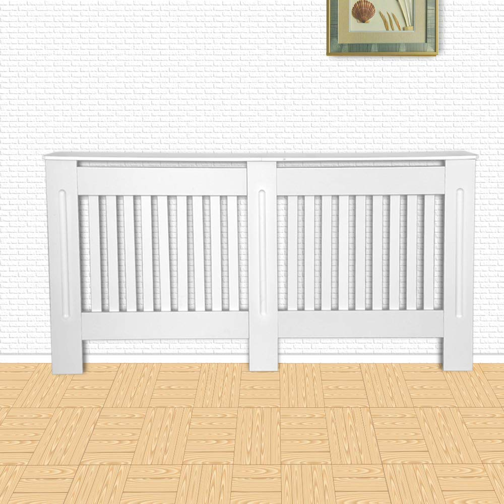 Large CASART radiatore di Riscaldamento armadietto da Parete mobili Moderni Dipinti mensola in MDF Bianco White