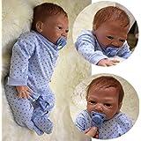 ZIYIUI 20 inches 50 cm Real Looking Handmade Reborn Baby Dolls Soft Vinyl Silicone Reborn Dolls Boy Free Magnet Pacifier