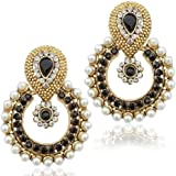 JSD Gold Plated American Diamond Earring for Girls and Women