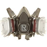 DR SAFETY Atemschutzmaske Grau I Individuell einstellbare Gasmaske mit Filter I Halbmaske mit doppeltem Filtersystem I…