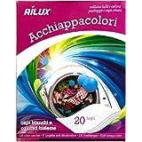 Mediawave store - Fogli cattura colore RILUX per lavatrice 055557 pack da 20 pz. Fogli acchiappacolore con fibre ultra-assorbenti per la brillantezza dei capi.