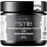 Blanqueador Dental Carbón Activado 100gr mysmile - Rico Bicarbonato de Sodio y Aceite de Menta, Carbón Activo de Coco 100% Na