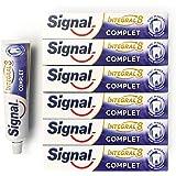 Signal Dentifrice Complet Integral 8 Antibactérien, Zinc Minéral d'Origine Naturelle, Action Anti-Plaque, Douceur, Protection