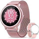 NAIXUES Smartwatch Donna IP68, Orologio Fitness Donna con 24 Modalità Sportive Smart Watch Impermeabile Contapassi Cardiofreq