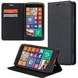 ECENCE Handyhülle Schutzhülle Case Cover kompatibel für Microsoft Lumia 535 Handytasche Schwarz 31040108