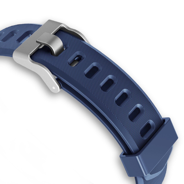 4c8159659f86 Fitness Tracker correas pulseras de repuesto para Vigorun YG3 Plus HR  Activity Tracker (Azul)