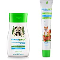 Mamaearth Moisturizing Daily Lotion For Babies + Berry Blast Kids Toothpaste