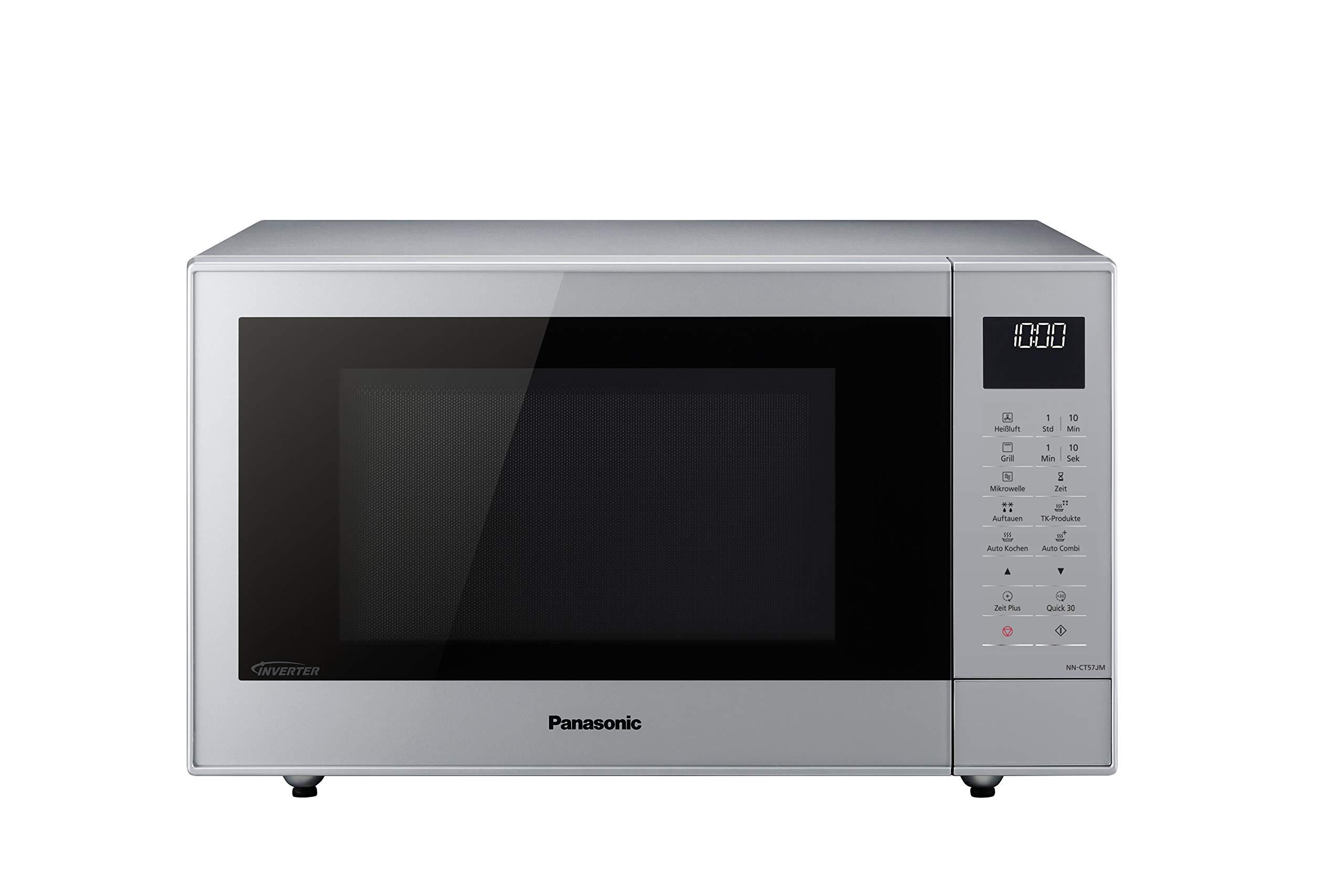 Panasonic NN-CT57 Mikrowellen-Grill mit Heißluft (1000 Watt, 27 Liter) silber