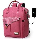 Rucksack Damen, Laptop Rucksack für 15.6 Zoll Laptop Schulrucksack mit USB Ladeanschluss für Arbeit Wandern Reisen Camping, f