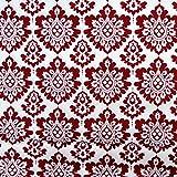 MAGAM-Stoffe ''Agnes'' Bordeaux | Baumwoll-Stoff aus 100% Baumwolle | Edles Design | Weihnachts-Stoff | USA Import | Meterware ab 50cm / FX-14