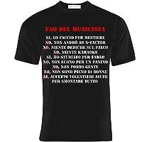 T-shirt uomo Faq del musicista, divertente, risposte alle domande tipiche! Idea regalo!