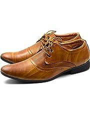 DE LOYON Synthetic Leather Formal Derby Shoes for Men