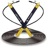 5BILLION Corda per Saltare velocità - Alluminio - Regolabile con Cuscinetto a Sfere - Allenamento per Unders Doppie, Fitness,