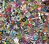 Sticker Bomb Comic Folie mit Echtem Logos 152x30cm Snowboard Aufkleber Skateboard Marken, Yamaha Aerox, Aprilia SR50