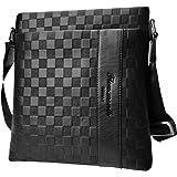 Flow.month Sac à bandoulière en Cuir pour Homme d'affaires Casual Ipad Casual Crossbody Bag Classic Bag Tote Bag, bandoulière