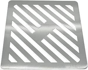 quadratisch st/ärker Reiben wie Gusseisen 350/mm Edelstahl massiv Metall Stahl Gully Grid Heavy Duty Ablauf