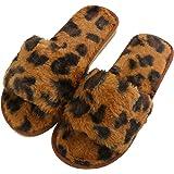 Zapatillas de Casa/Aire Libre para Mujer Zapatillas de Estar Invierno Cálido Felpa Suave Invierno Pantuflas Antideslizantes