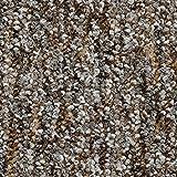 Teppichboden Auslegware Meterware Schlinge meliert braun grau 200, 300, 400 und 500 cm breit, verschiedene Längen