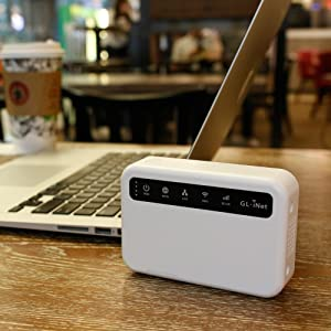 GL.iNet 4G Smart Router, EMEA Version, OpenWrt, 5000mAh Battery, OpenVPN Client