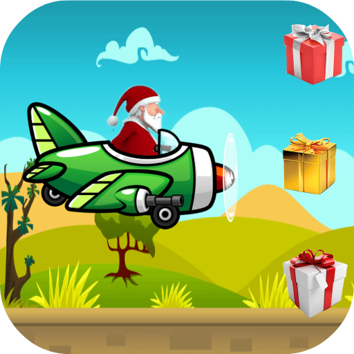 Christmas: Santa on Airplane (Runner-spiele Shoot Bubble)