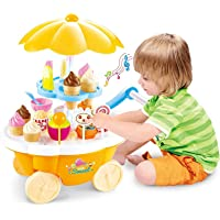 ARHA IINTERNATIONAL Big Size Portable Suitcase Shape Musical Kitchen Set Toy for Kids with Light and Accessories (Ice…