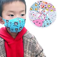 Outgeek Mouth Cover 5PCS Kids Mouth m-as-k Warm Washable Cartoon Printed Anti Dust m-as-k Half Face m-as-k