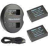 Newmowa LP-E17 ersättningsbatteri (2-pack) och dubbla USB-laddarsats för Canon LP-E17 Canon EOS M3 M5 M6 200D 250D 750D 760D