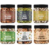 GreenFinity Dry Fruits Combo Pack - 1.425g (Almonds, Cashews, Pistachios, Raisins, Anjeer - 250g, Walnuts Without Shells - 17