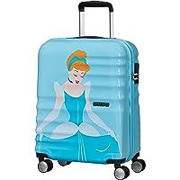 American Tourister Wavebreaker Disney Deluxe - Spinner S Handgepäck, 55 cm, 36 L, Blau (Cinderella)