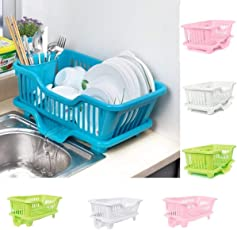 Dealcrox Multi Kitchen Sink Dish Plate Drainer Drying Rack Wash Organizer Tray Holder Basket