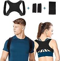 Corrector de Postura, Corrector Postura Espalda Faja para Hombre y Mujer Hombro Clavícula Espalda Recta Soporte -...